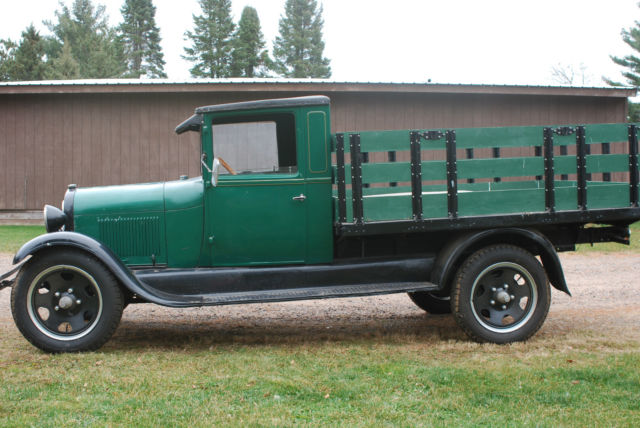 1928 Ford Model A Aa Stake Bed Truck Single Rear Wheel With Fenders Driver Fun
