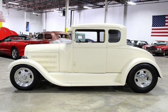 1929 ford 5 window 8824 miles cream coupe 350ci v8 3 speed for 1929 ford 5 window coupe