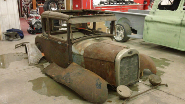 1929 ford model a coupe project car very buildable complete body. Black Bedroom Furniture Sets. Home Design Ideas