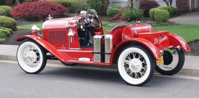 1929 ford model a speedster fire chief car. Black Bedroom Furniture Sets. Home Design Ideas