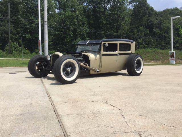 1929 Ford Model A Tudor Sedan Chopped Hot Rod Rat Rod