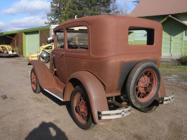1930 ford model a 2 door sedan tudor many new parts barn. Black Bedroom Furniture Sets. Home Design Ideas