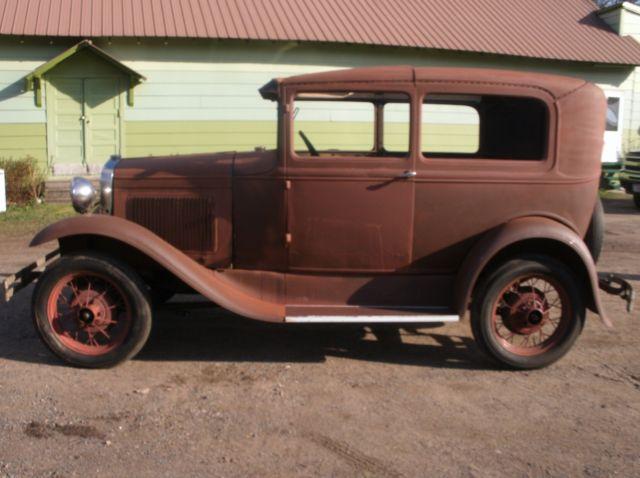 1930 Ford Model A 2 Door Sedan Tudor Many New Parts Barn