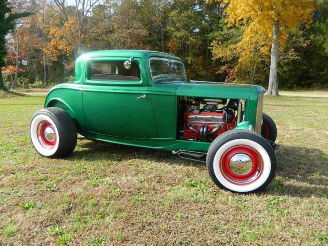 1932 ford 3 window coupe 32 frame steel hood grill v8 hot rod for 1932 ford 3 window coupe chassis