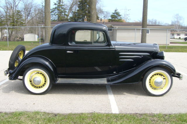 1934 chevrolet standard 3 window coupe all steel no rust for 1934 chevrolet 3 window coupe