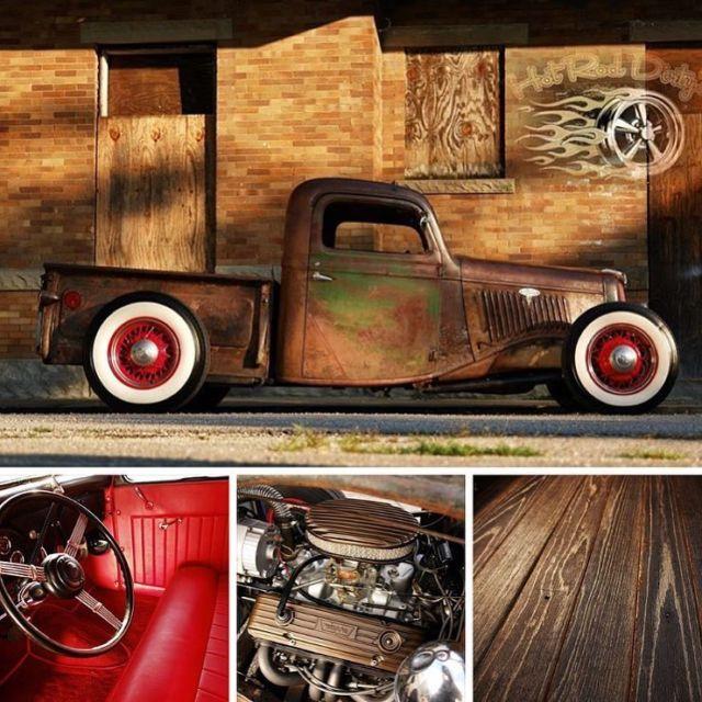 1936 Ford Hot Rod Patina Street Rat Chopped Pickup Truck
