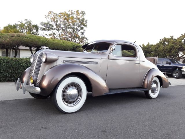 1936 pontiac 3 window coupe w factory rumble seat 1935