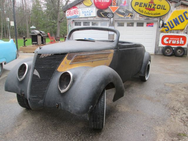 1937 Ford Custom Roadster Project Car Chop Top Ratrod Body All Steel