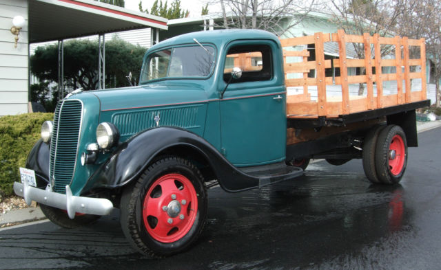 1937 Ford Stake Bed Farm Truck 1 5 Ton