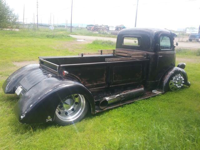 1938 ford COE hot rod dually truck midengine 10 lug alcoa patina ...