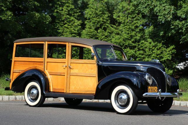 1938 FORD WOODY WAGON FLATHEAD V8 3-SPEED FRAME UP