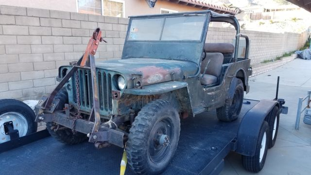 Ford Gpw Military Jeep Gpw Engine Amp Frame Needs Restro Engine on Blown Head Gasket Jeep