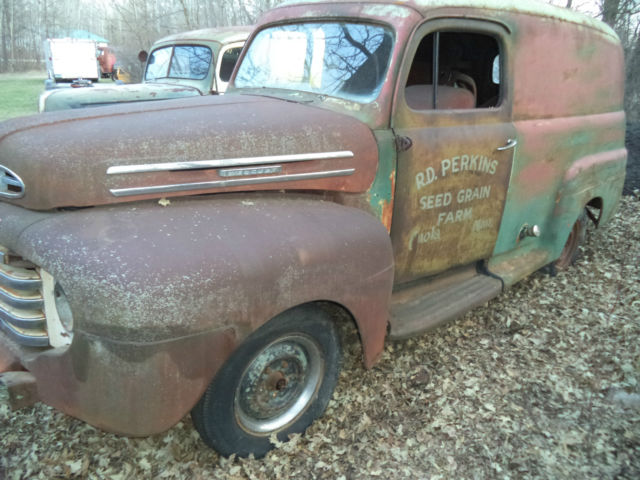 1948 ford panel truck nice rust free body 1949 1950. Black Bedroom Furniture Sets. Home Design Ideas