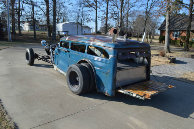 1948 Willys Jeep Overland Station Wagon Ratrod Rat Rod