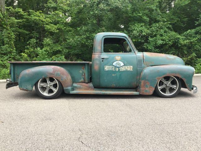 1950 chevrolet 3100 rat truck  patina  shop truck hot rod