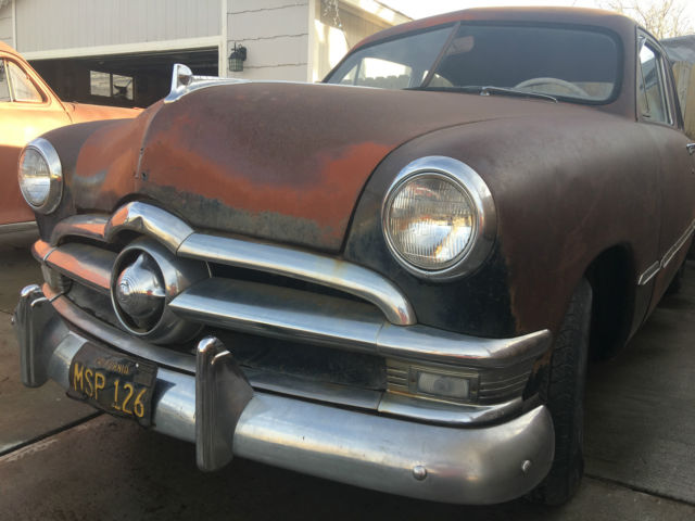 1950 ford custom deluxe 2 door sedan rat rod patina for 1950 ford custom 2 door