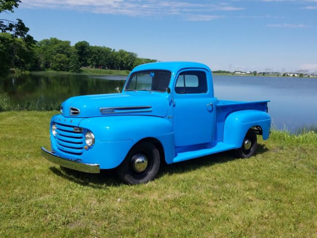 1950 ford f 1 pickup truck flathead v8 original restored f1 short box 1 2 ton. Black Bedroom Furniture Sets. Home Design Ideas