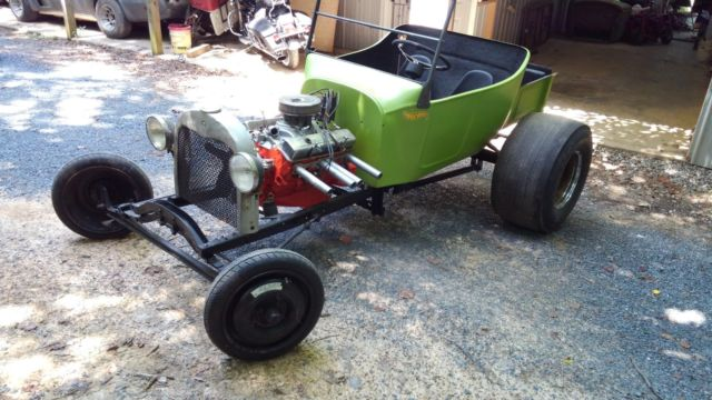 1950's dragcar T-Chassis with New Sublime Green semi-flat painted