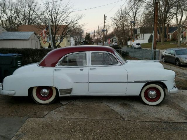 1951 chevy deluxe 4 door sedan white for 1951 chevy deluxe 4 door for sale
