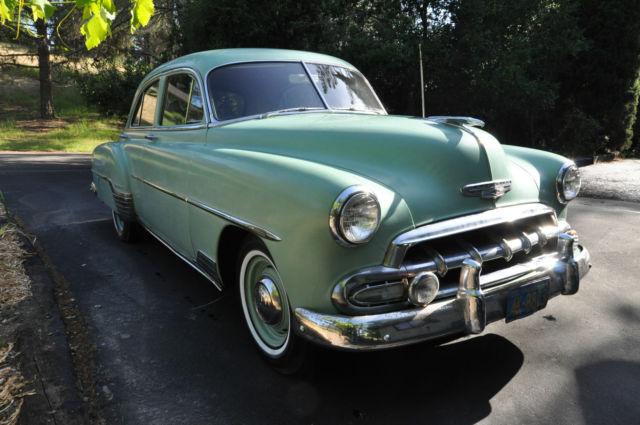 1952 chevrolet styleline deluxe base sedan 4 door 3 5l for 1952 chevy 4 door