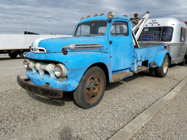 1952 ford f6 vintage tow truck wrecker coe rat rod gasser. Black Bedroom Furniture Sets. Home Design Ideas