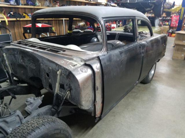 1955 chevrolet bel air 150 210 brand new body hot rod project car no reserve. Black Bedroom Furniture Sets. Home Design Ideas