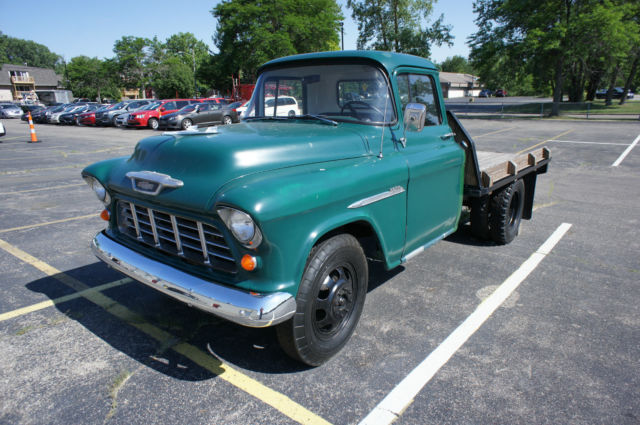 1955 Chevy 3800 1 Ton Flat Bed Very Solid Rust Free