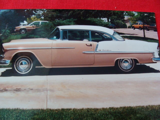1955 Chevrolet Bel Air Custom 2 Door Hardtop Side Pro 65810