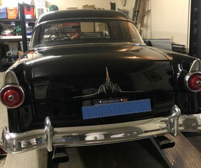 1955 ford customline 2 door black sedan vintage for 1955 ford customline 4 door