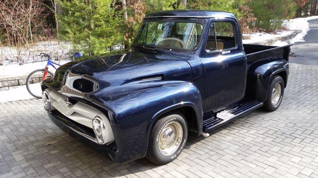 1955 Ford F100 Chopped Roof Custom Paint 351w V8 Midnight