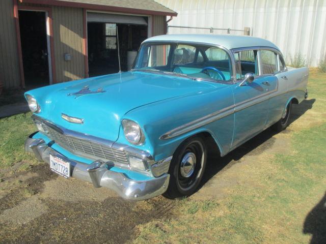 1956 chevrolet bel air 4 door sedan for 1956 chevy 4 door sedan