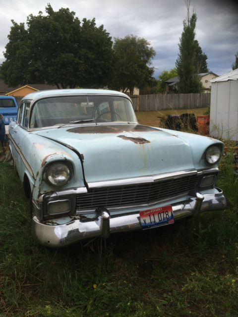 1956 chevrolet bel air base sedan 4 door for 1956 chevy belair 4 door for sale