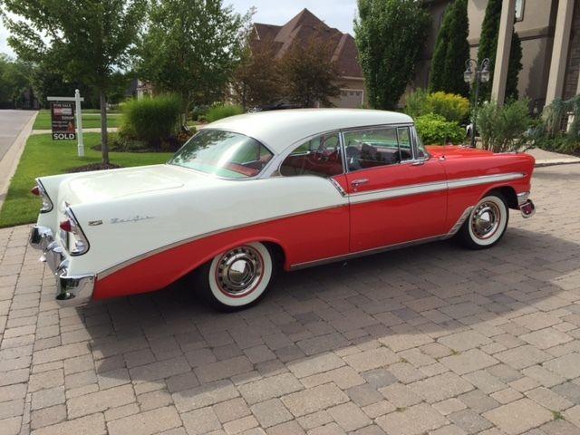 1956 chevrolet bel air sports coupe 2 door hardtop for 1956 chevy belair 4 door hardtop for sale
