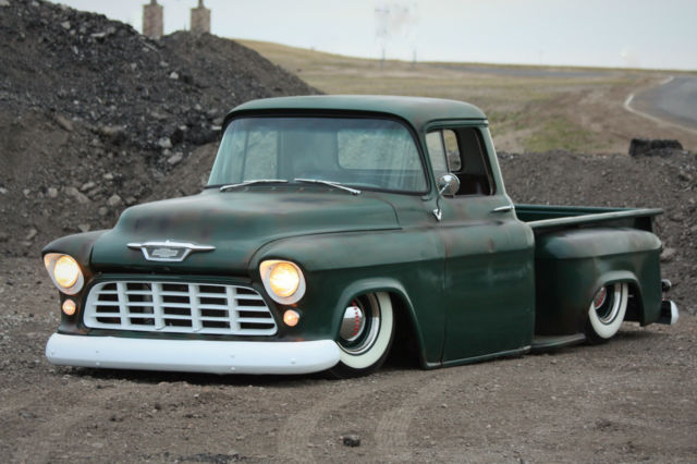 1956 Chevy Pickup Bagged Air Ride Patina Mustang Ii Patina