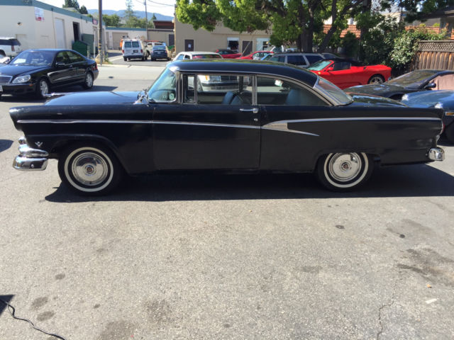 1956 Ford Customline Victoria Factory Black 2 Owner