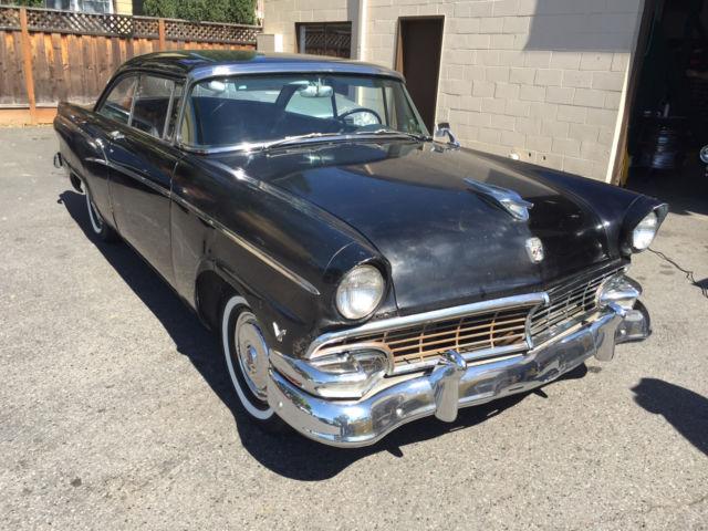 1956 Ford Customline Victoria Factory Black 2 Owner