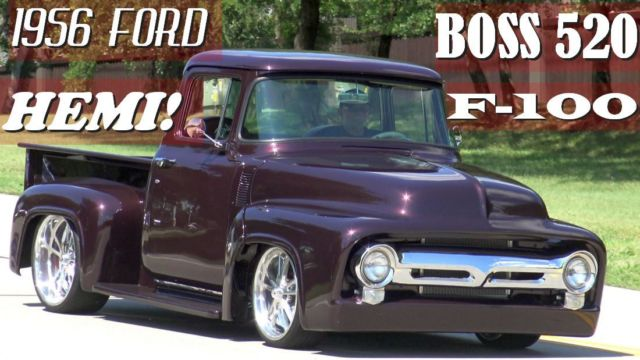 1956 ford f 100 fired up garage built famous tv truck street rod hot rod video. Black Bedroom Furniture Sets. Home Design Ideas