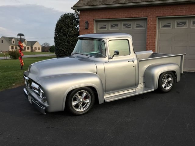 1956 ford f100 big back window pickup truck total frame for 1956 ford big window