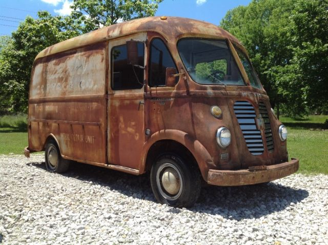 f6a3e3ae48 1956 ih metro step van patina Coe food panel truck delivery rat rod short  bus
