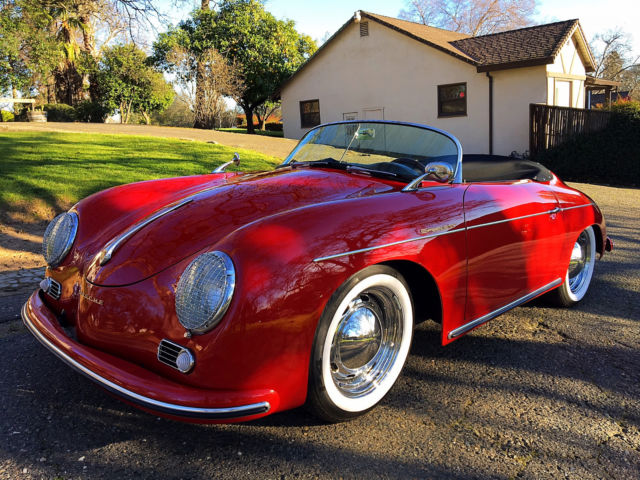1956 porsche 356a fully electric conversion vintage speedster replica rare. Black Bedroom Furniture Sets. Home Design Ideas