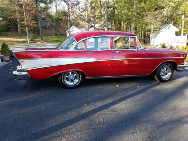 1957 chevrolet bel air four door sedan for 1957 chevy 4 door sedan