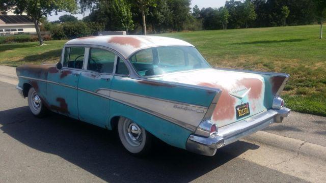 1957 chevrolet belair 4 door completely original great for 1957 chevy 4 door car for sale
