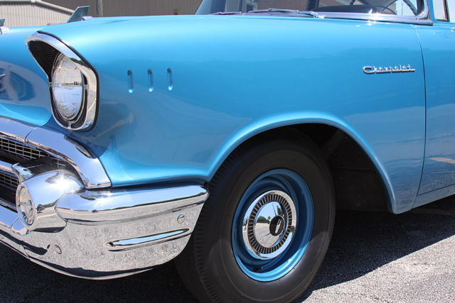 Cars For Sale In Montgomery Al >> 1957 CHEVY 150 2 DR SEDAN 270HP 283 DUAL QUAD BATWING AIR ...