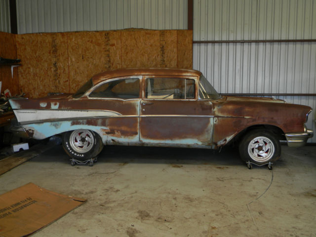 1957 chevy 210 2dr post project car 2 door. Black Bedroom Furniture Sets. Home Design Ideas