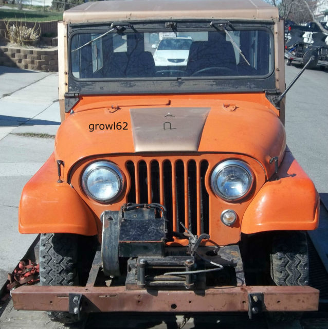 1957 Willys Jeep Cj5 Cj 5 Very Solid Clear Title 289