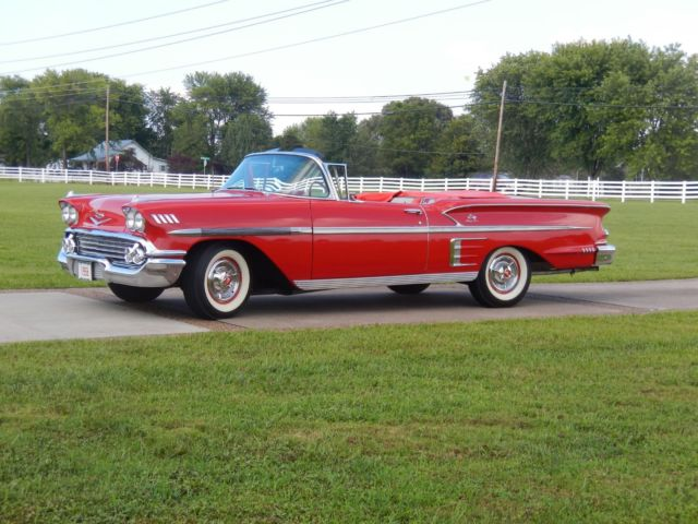 1958 chevy impala convertible 348ci all new all custom hot rod 56 57 58 59. Black Bedroom Furniture Sets. Home Design Ideas