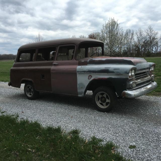 1959 chevrolet truck 3100 suburban patina 1955 1956 1957 1959 project. Black Bedroom Furniture Sets. Home Design Ideas