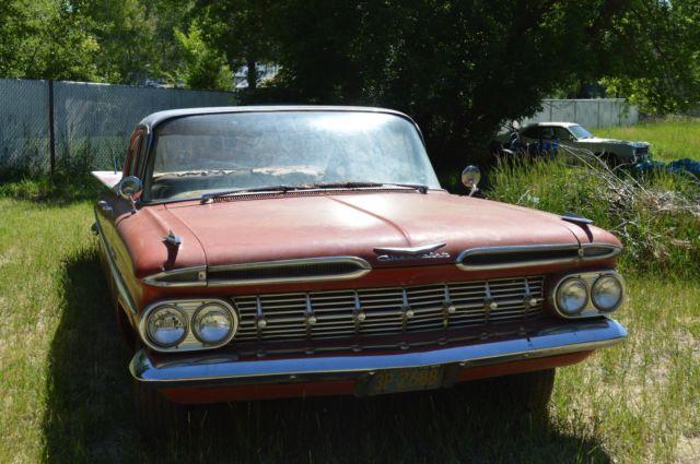 1959 Chevy Bel Air 1 Owner Survivor Barn Find V8 Car