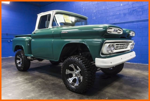 1961 chevrolet apache 10 4wd lifted truck with upgraded diesel