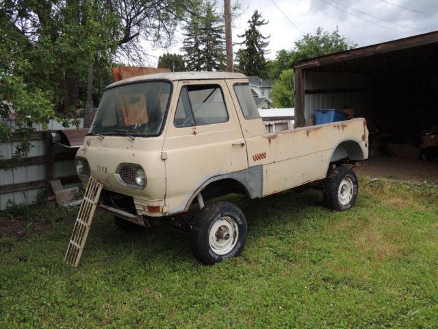Econoline 4x4 Camper >> 1961 Ford Econoline pick up truck 4x4 camper rock crawler vintage van